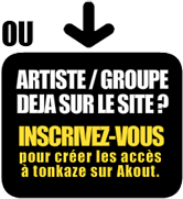Inscription d'un artiste/groupe existant